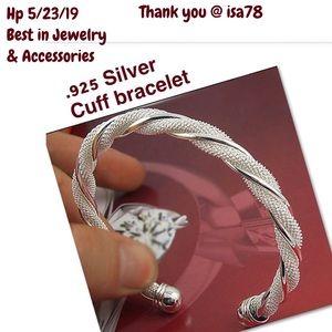 Beautiful .925 sterling silver cuff bracelet